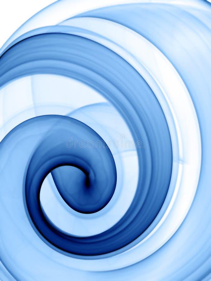 голубая свирль иллюстрация вектора