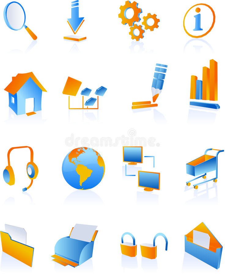 голубая сеть интернета икон бесплатная иллюстрация
