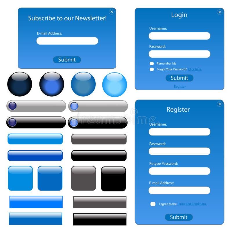 голубая сеть шаблона иллюстрация вектора
