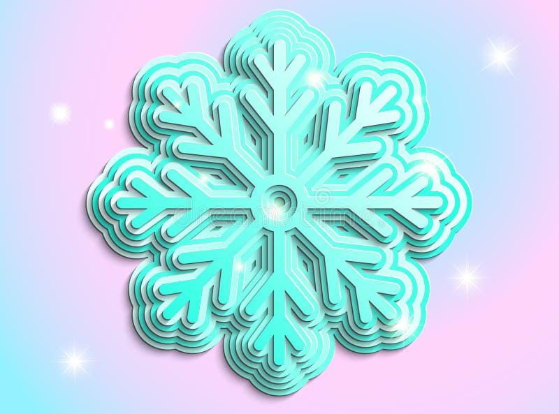 Голубая снежинка на снежинке стоковые фото