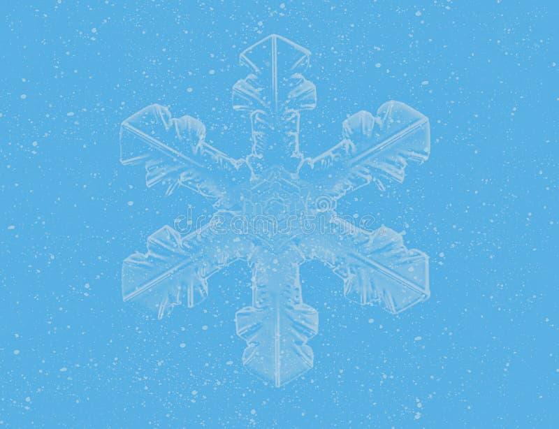 голубая снежинка бесплатная иллюстрация