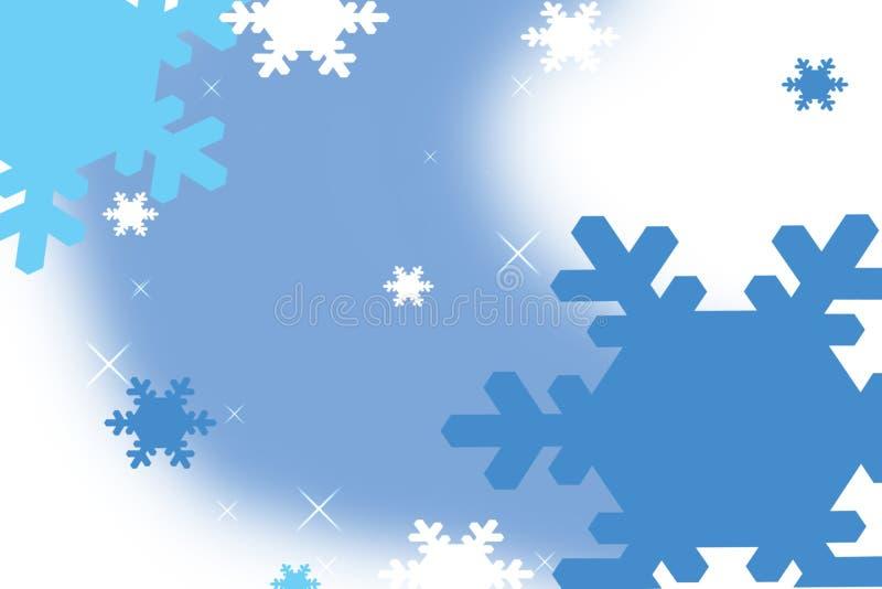 голубая снежинка иллюстрация штока