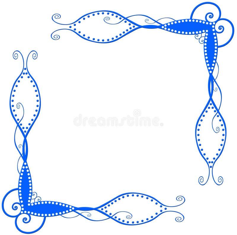 голубая спираль углов иллюстрация штока