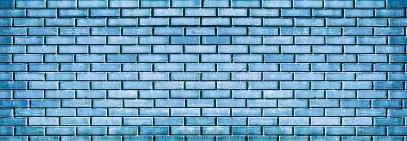 голубая стена текстуры grunge кирпича стоковое изображение