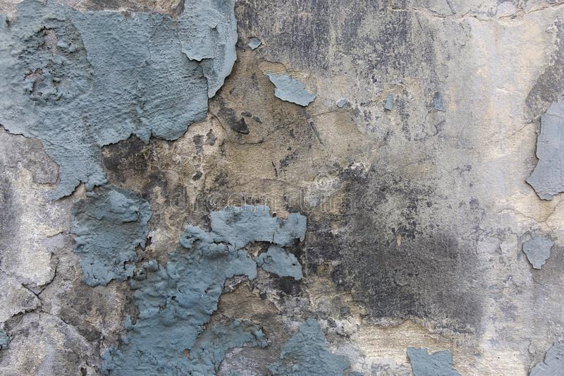 Голубая стена gunge гипсолита шелушения краски стоковые фото