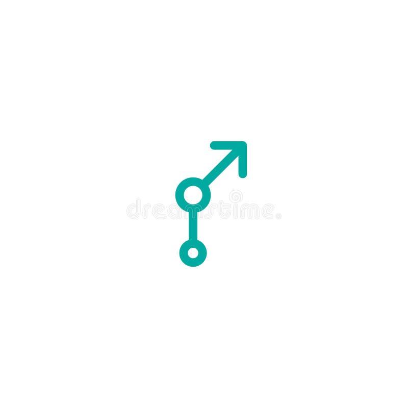 Голубая стрелка вверх с кругами r r начало, выдвижение дела бесплатная иллюстрация