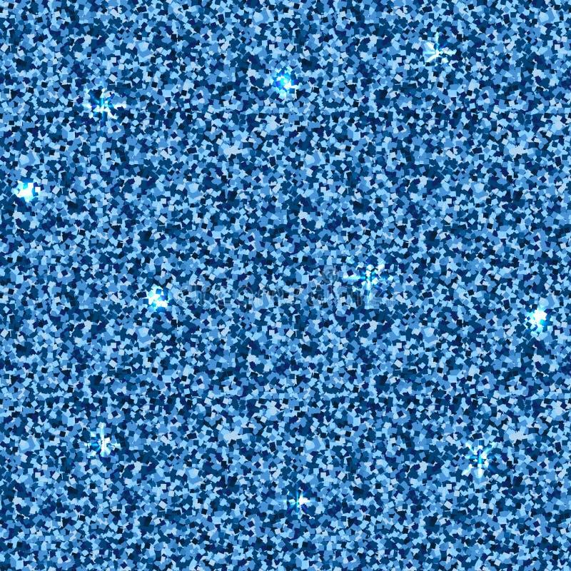 Голубая текстура вектора Картина яркого блеска безшовная с металлическим влиянием Предпосылка искры декоративная бесплатная иллюстрация
