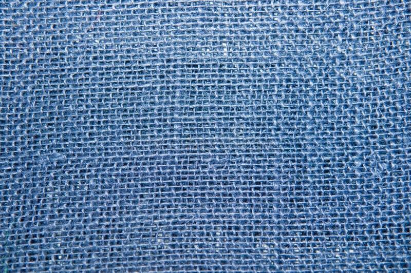 голубая текстура мешковины стоковое изображение rf