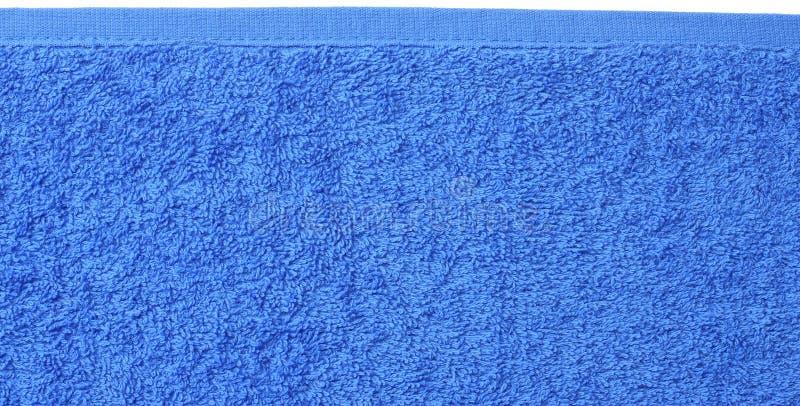 Голубая текстура пляжного полотенца Голубая предпосылка пляжного полотенца r стоковые изображения rf