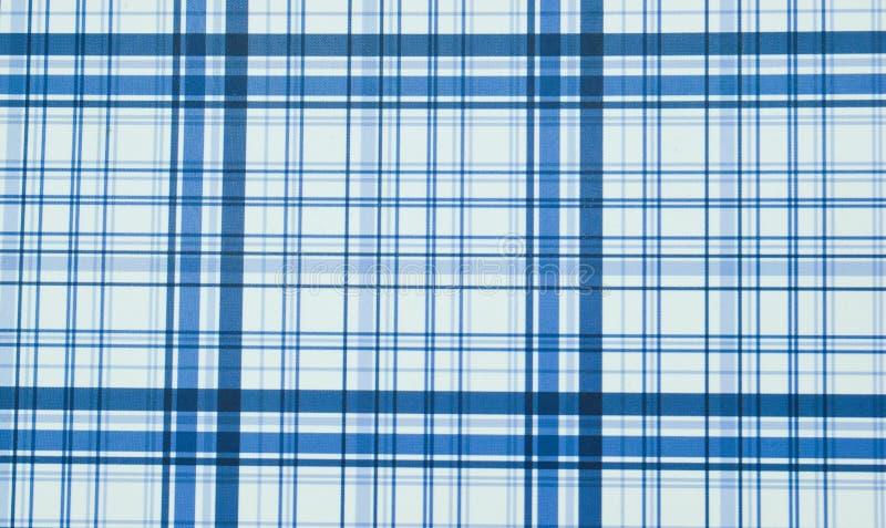 голубая текстура шотландки Голубые нашивки на белой предпосылке стоковое изображение