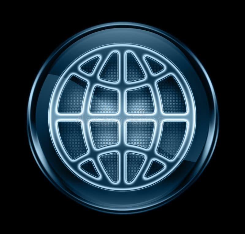голубая темная икона глобуса иллюстрация штока