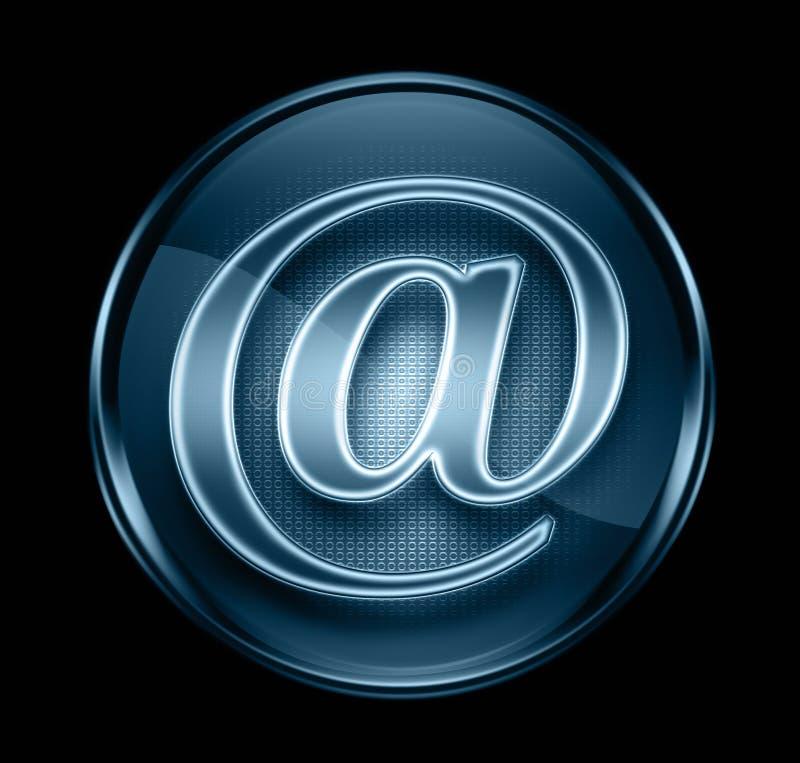голубая темная икона электронной почты иллюстрация штока