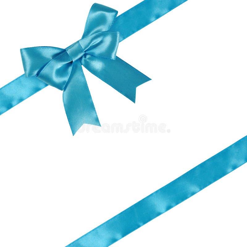 Голубая тесемка с смычком стоковые изображения