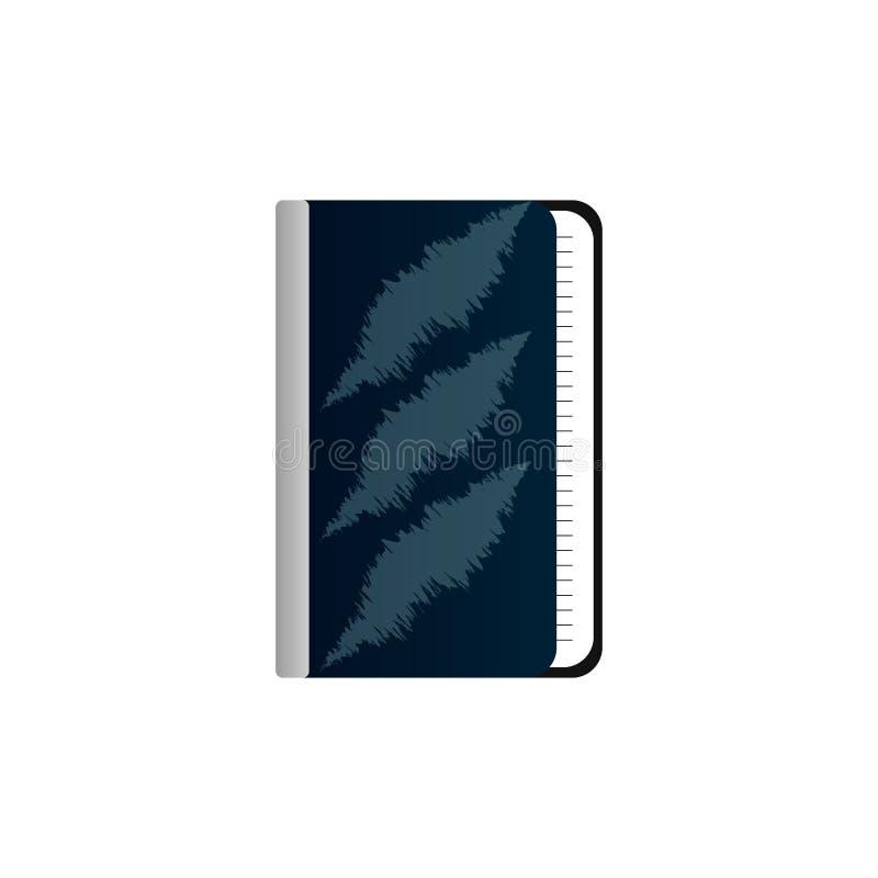 Голубая тетрадь на белой предпосылке иллюстрация вектора