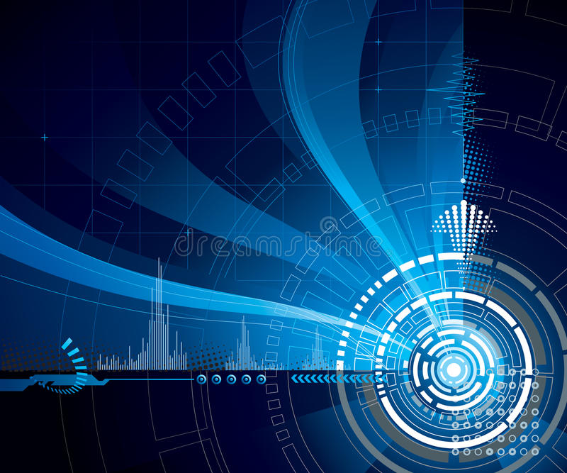 голубая технология иллюстрация вектора