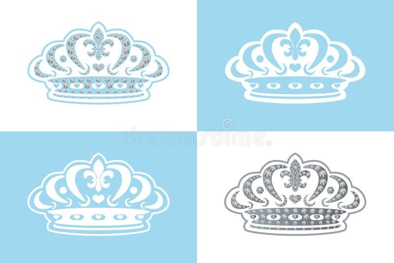 голубая тиара украшения иллюстрация штока