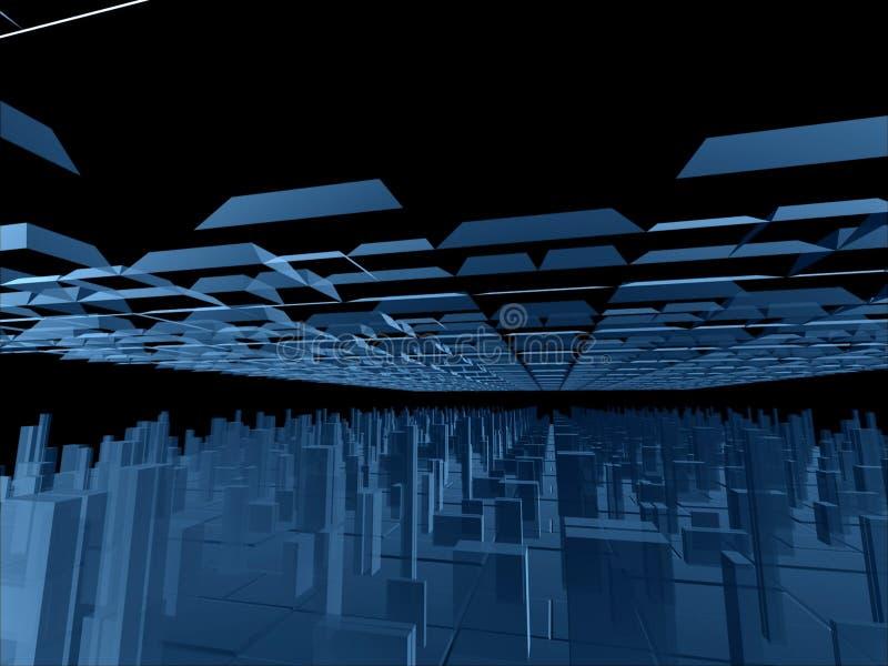 голубая фантазия конструкций футуристическая бесплатная иллюстрация