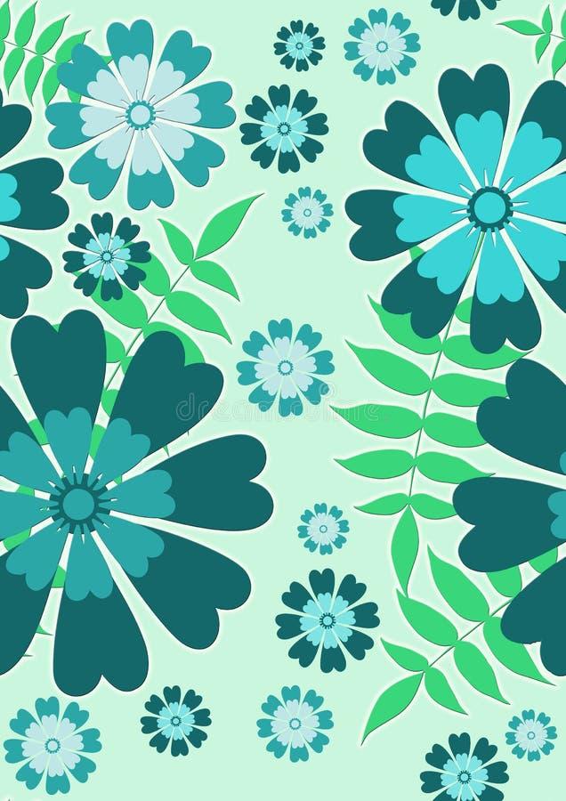 голубая флористическая картина довольно безшовная бесплатная иллюстрация