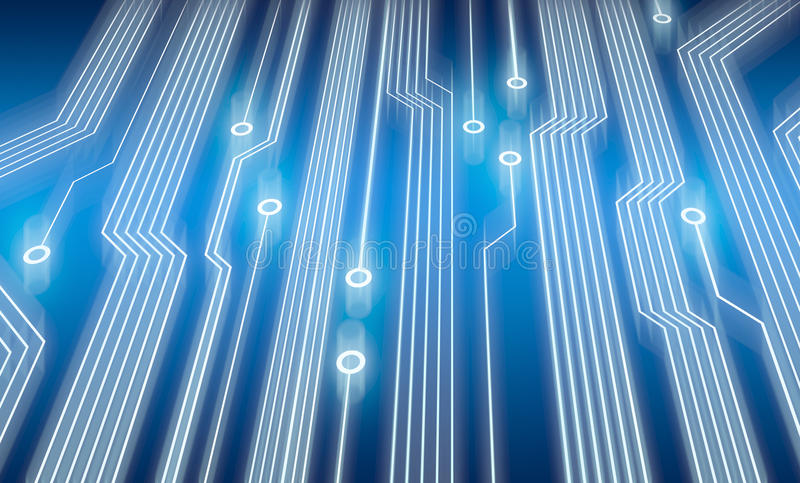 голубая цепь доски электронная иллюстрация вектора