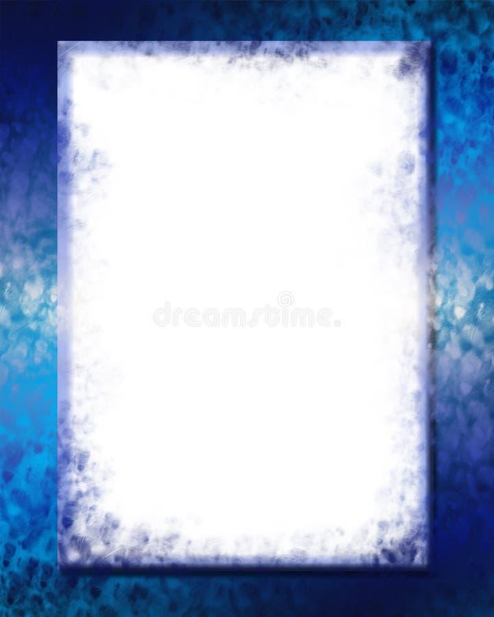голубая цифровая рамка 2 бесплатная иллюстрация