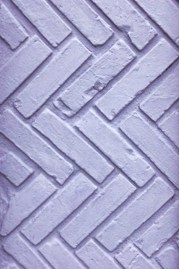 Голубая шипучка покрасила текстуру конца кирпичной стены вверх стоковое фото