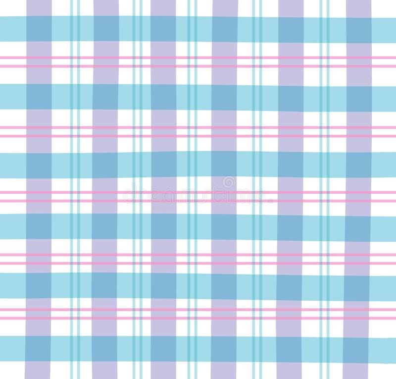 голубая шотландка холстинки иллюстрация вектора