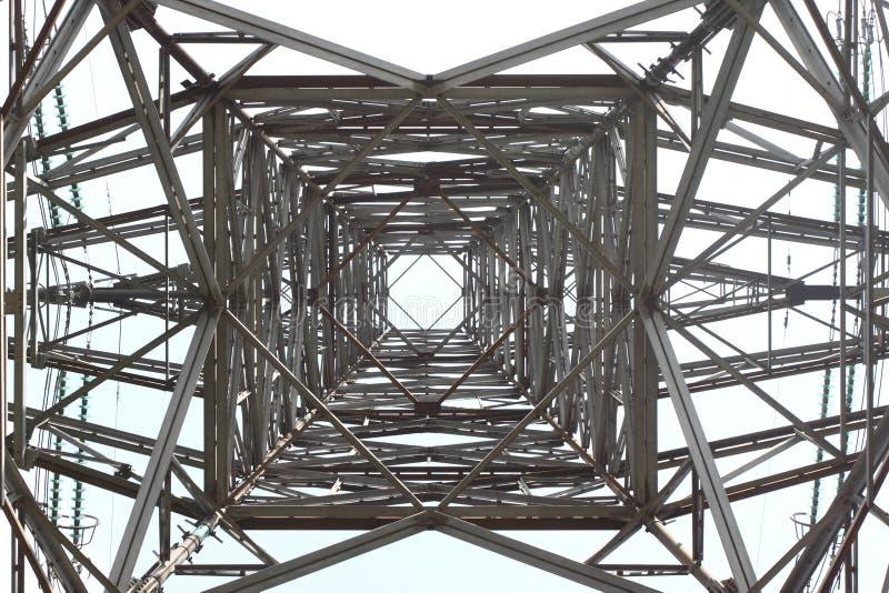 голубая электрическая башня неба стоковое фото rf