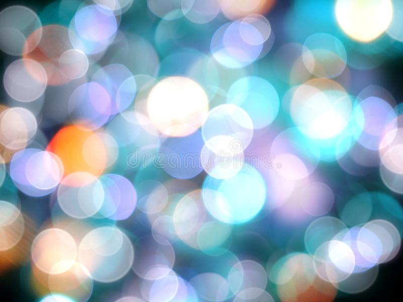 Голубая яркая красочная запачканная предпосылка светов декоративная стоковая фотография