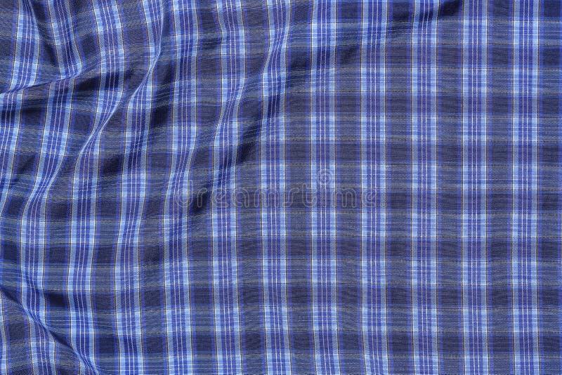 голубая checkered ткань стоковая фотография rf