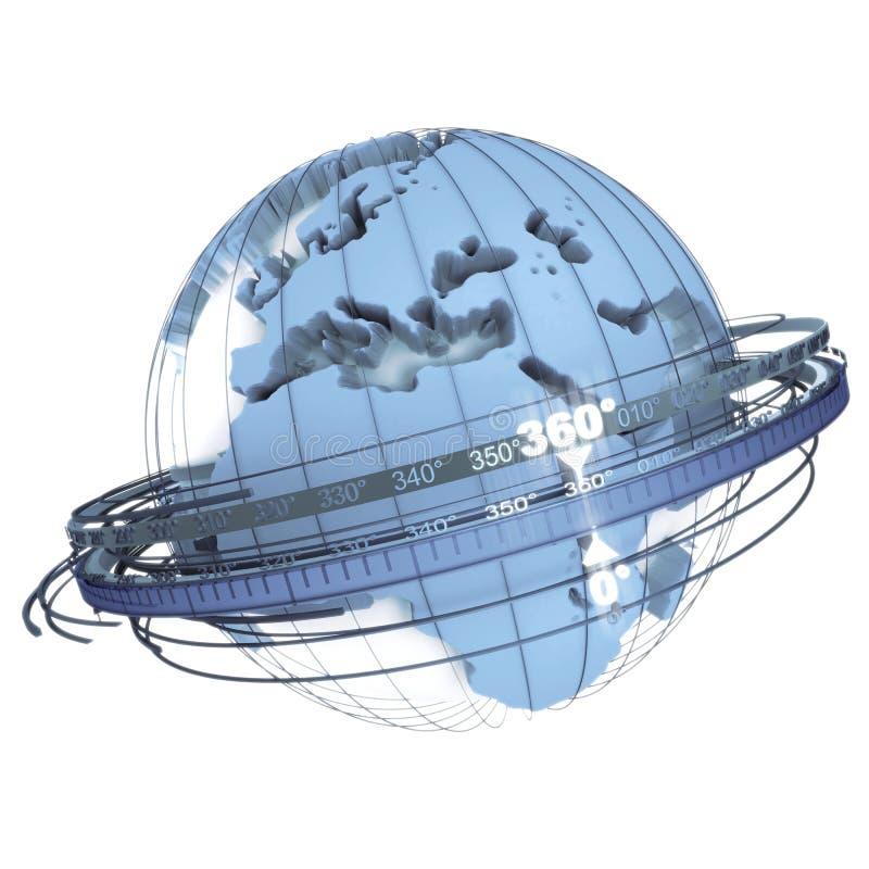 голубое вращение земли иллюстрация вектора