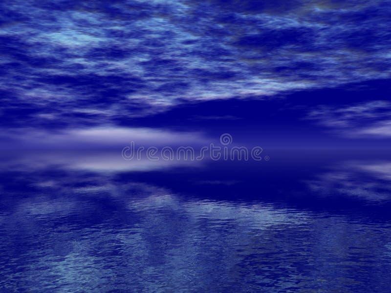 голубое глубокое море стоковое фото