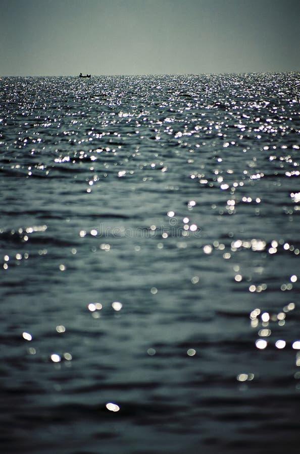 голубое глубокое море стоковые фото