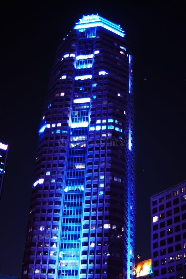 голубое здание корпоративное стоковая фотография