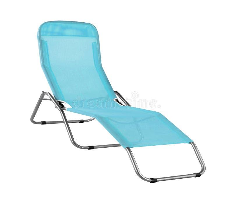 Голубое изолированное deckchair стоковые фото