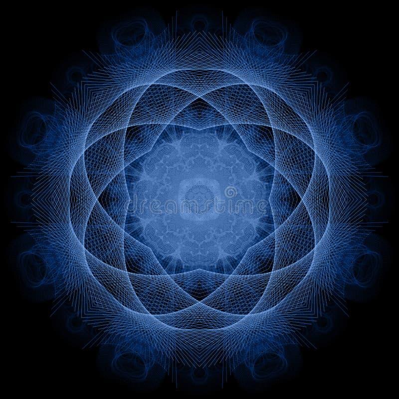 голубое мандала бесплатная иллюстрация