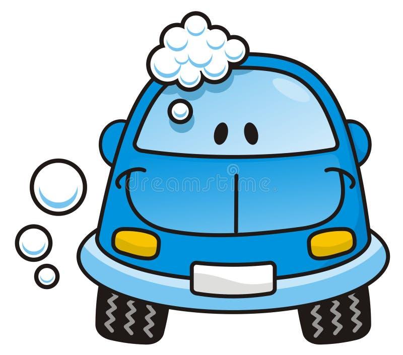голубое мытье автомобиля бесплатная иллюстрация