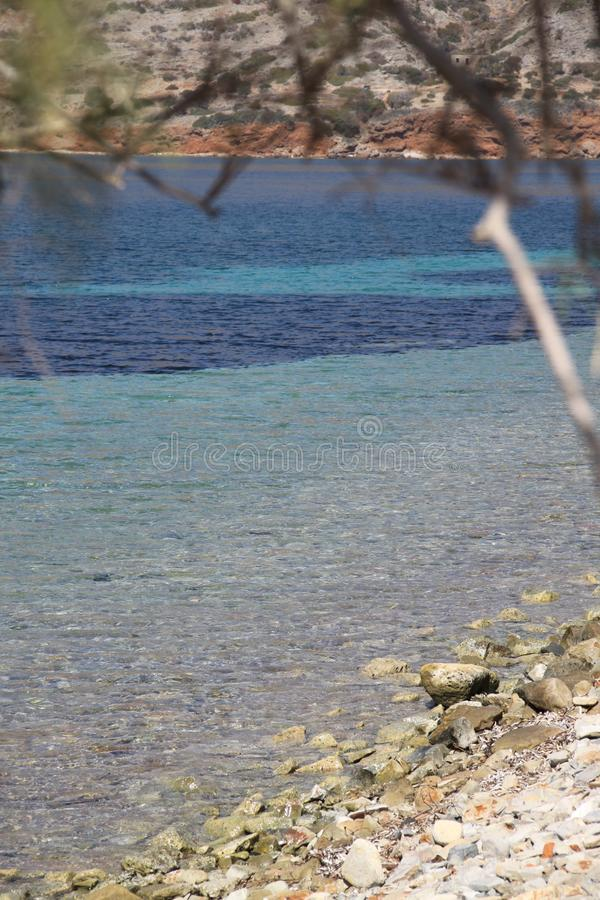 Голубое настроение на пляже стоковое изображение rf