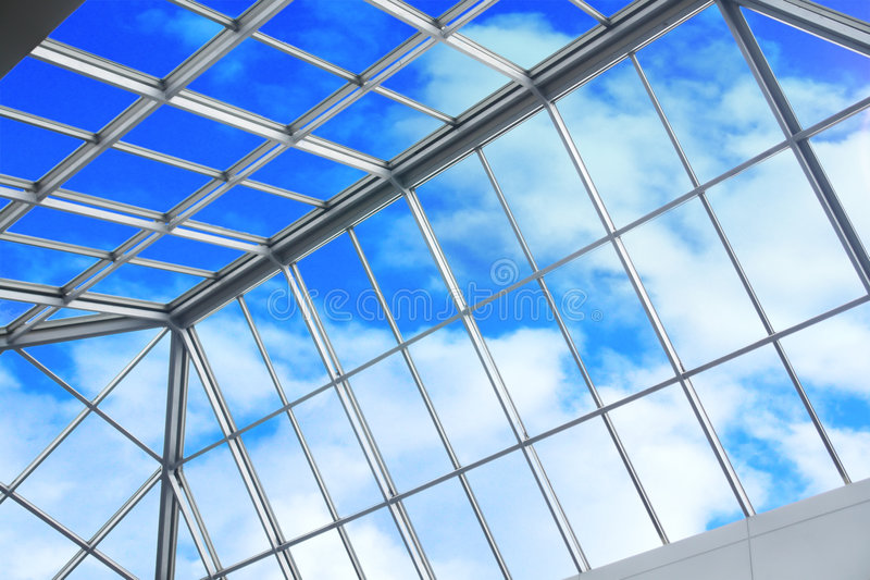 голубое небо потолка стоковое фото rf