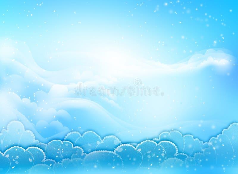 голубое небо сердца бесплатная иллюстрация
