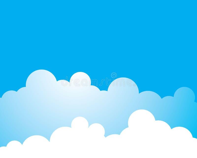 Голубое небо с иллюстрацией значка вектора облака бесплатная иллюстрация
