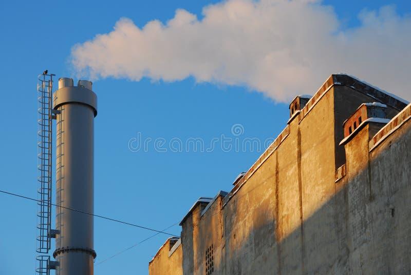 голубое небо трубы metall стоковые фотографии rf