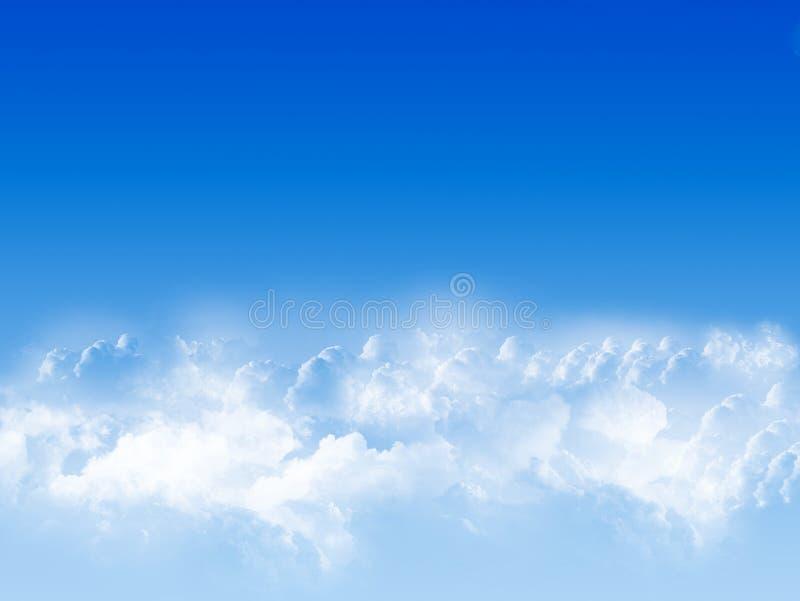 голубое небо иллюстрация вектора
