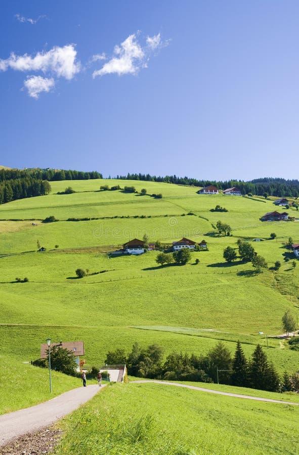 голубое небо tirol холмов стоковые фото