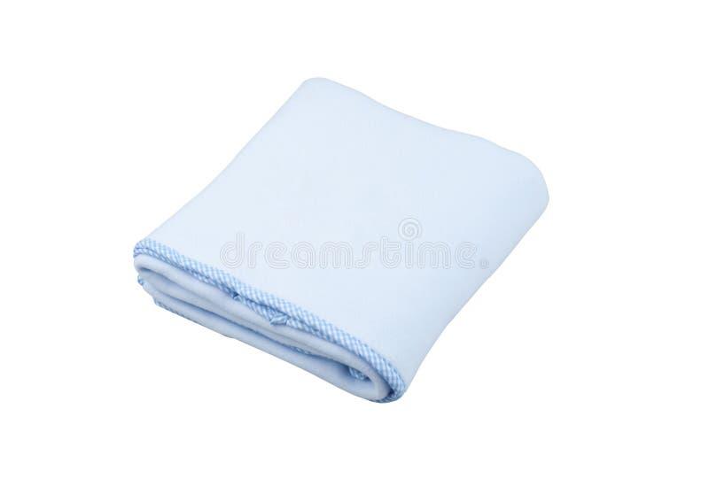 Голубое одеяло ватки стоковая фотография rf