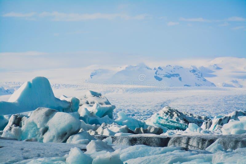 Голубое озеро лед стоковая фотография