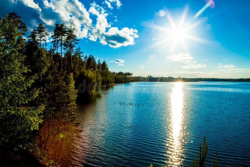 Голубое озеро стоковое фото