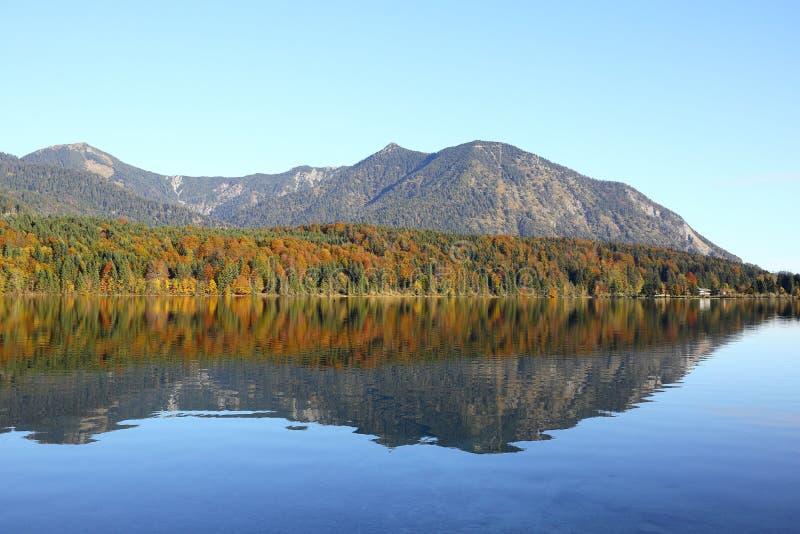 Голубое отражая озеро стоковые фотографии rf