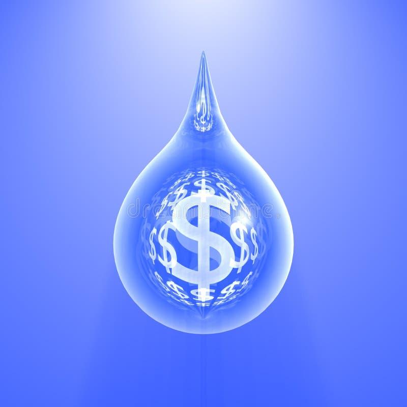 голубое падение доллара стоковые изображения