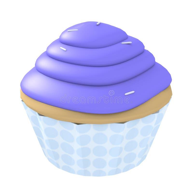 голубое пирожне компьютера 3d произвело иллюстрация вектора