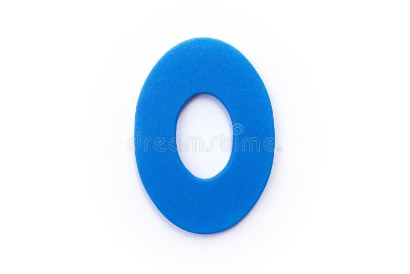 голубое письмо o стоковые изображения rf